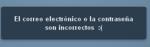 Tumblrログインページエラーメッセージ(スペイン語版)
