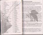 米版新世紀エヴァンゲリオン第3巻、巻末の効果音表。ページ数、コマ数、効果音文字の読み、意味が書かれている。